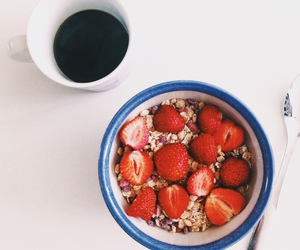 beautiful, red, and strawberries image