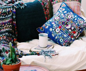 cozy, hipster, and pillow image