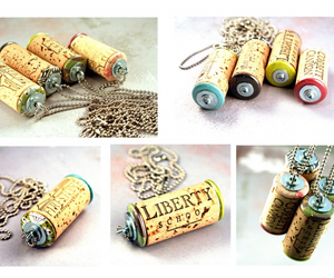 diy, cork, and necklace image