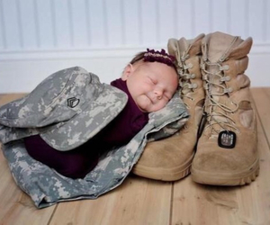 baby, army, and military image