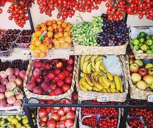 fruit, apple, and banana image