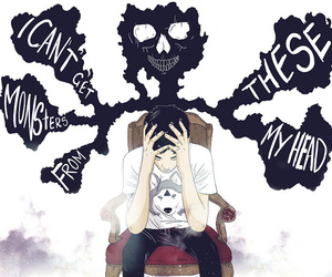boy, illustration, and chair image