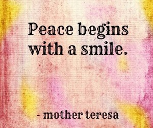 peace, smile, and begin image