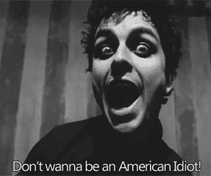 green day, american idiot, and black and white image