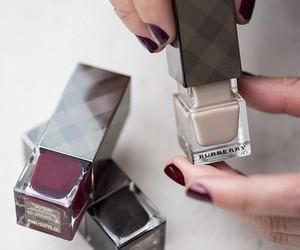 Burberry, nails, and fashion image