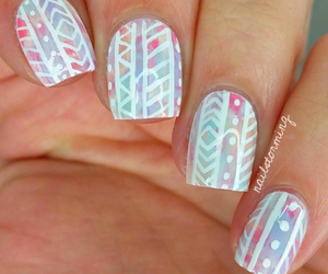 nails, girl, and tribal image
