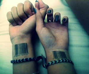 barcode, forever, and couple image