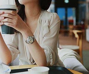 alone, coffe, and watch image