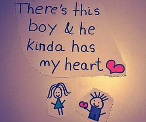 love, boy, and heart image