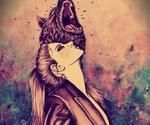 wolf and girl image