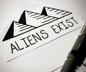 aliens, black and white, and nature image