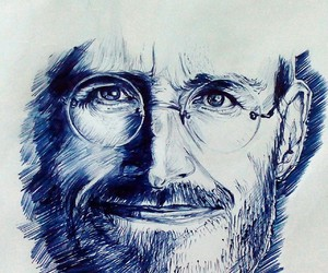 apple, jobs, and pen image