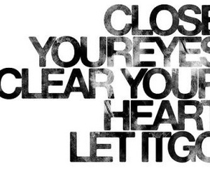 quote, heart, and eyes image