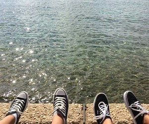 sea, water, and shoes image