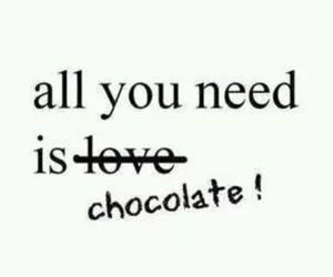 chocolate, love, and need image