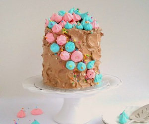 buttercream, cake, and chocolate image
