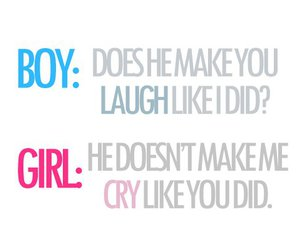 boy, girl, and cry image