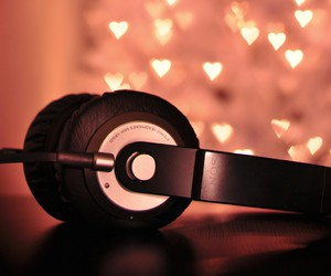 music, headphones, and heart image