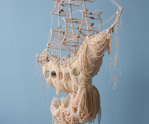ship and made of pearls image