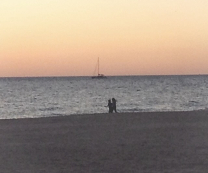 beach, boat, and couple image