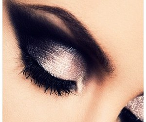 black, lashes, and smokey eyes image