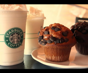 muffin, starbucks, and chocolate image