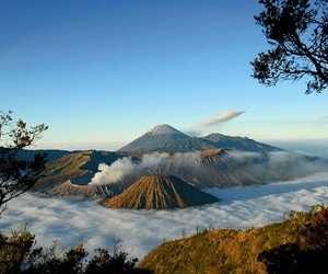 indonesia, java, and semeru mountain image