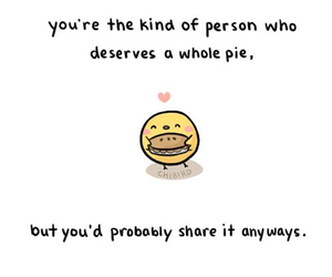 chibird, cute, and pie image