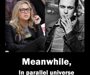 penny, the big bang theory, and sheldon image