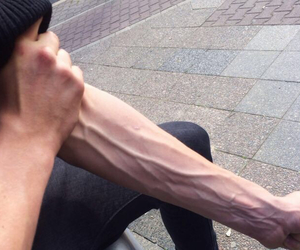 boy, vein, and guy image