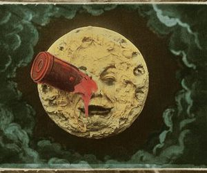 moon, A Trip to the Moon, and art image