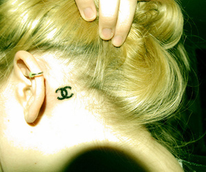 blonde, ear, and neck image