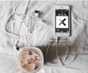 coffee, thexx, and earphones image