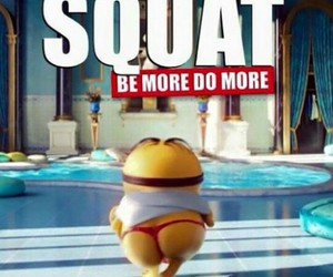 minions and fitness image