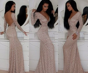 dress, style, and hair image