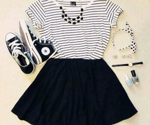 converse, cool, and skirt image