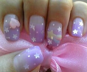 nails, stars, and nail art image
