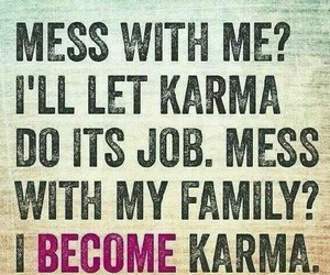 family, karma, and quote image