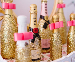 glitter, gold, and moet image