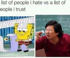 funny, spongebob, and trust image