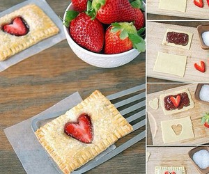 strawberry, diy, and food image