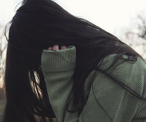 alone, cold, and long hair image