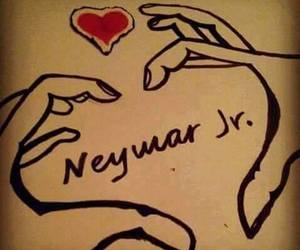 heart, neymar jr, and love image