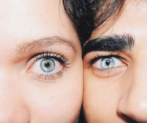 eyes, couple, and blue eyes image