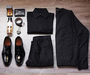 black, man, and style image