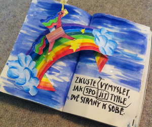 art, unicorn, and wreck this journal image