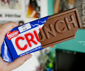 chocolate, crunch, and food image