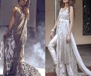 dress, saree, and indiandress image