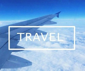 travel, blue, and fly image