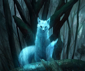 fox, animal, and fantasy image